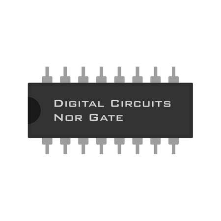 input device: Circuit, component, electricity icon vector image.