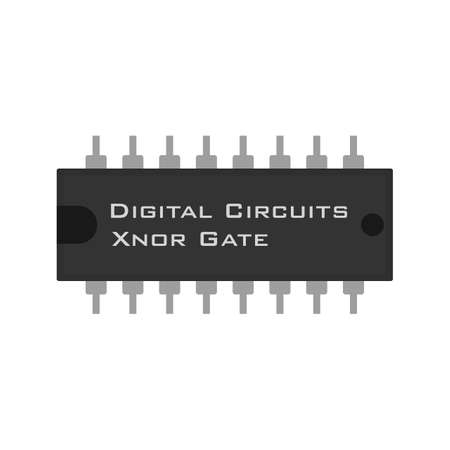 input devices: Circuit, component, electricity icon vector image.