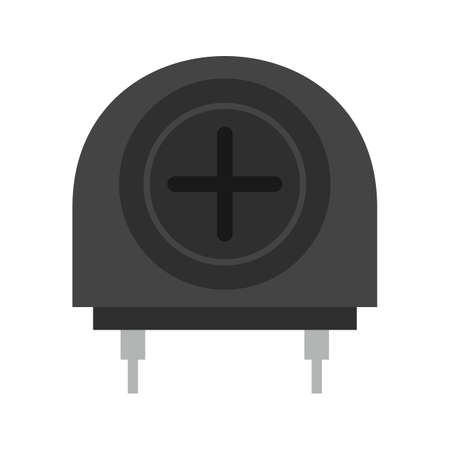 ic: Amplifier, technology, operational icon vector image. Illustration