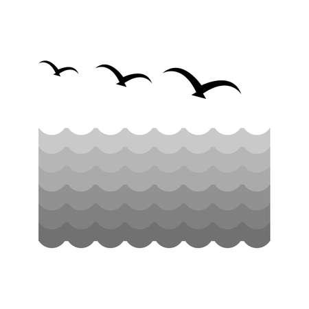 formation: Birds, water, flock icon vector image. Illustration