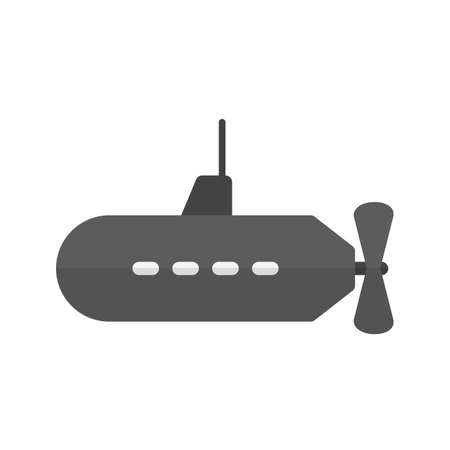 parachuting: Submarine, parachuting, ship icon vector image.