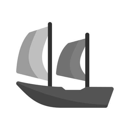 caribbean cruise: Cruise, ship, beautiful icon vector image.