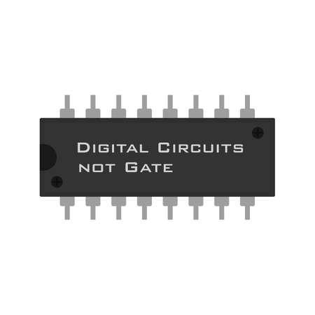 diode: Circuit, component, electricity icon vector image.