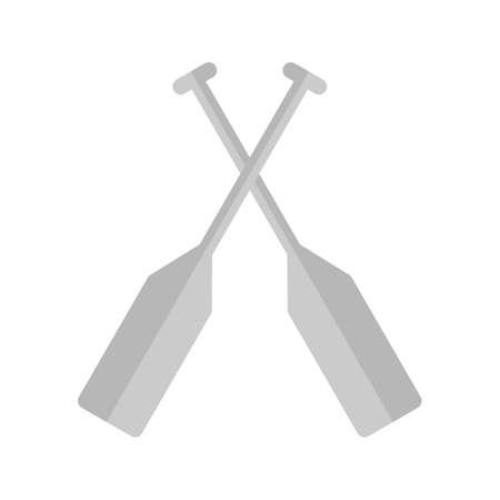 oar: Oar, paddle, rafting icon vector image.