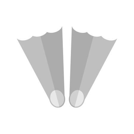 sea water: Water, sea, fins icon vector image. Illustration