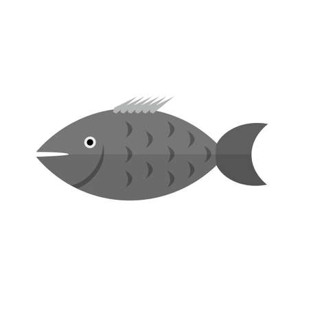 shoal: Fish, sea, swimming icon vector image. Illustration