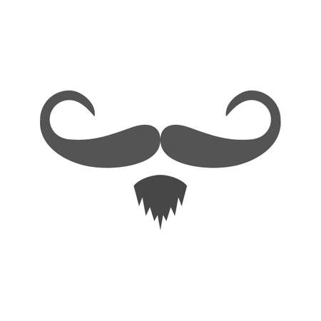 hair mask: Hipster, moustache, man icon vector image.