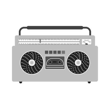 casette: Music, casette, sound icon vector image. Illustration