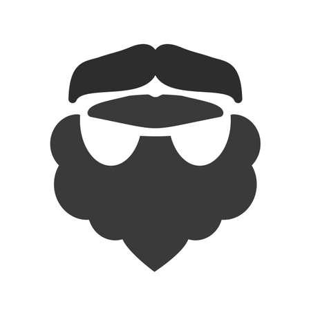 hair mask: Beard, man, moustache icon vector image.