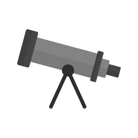 optical image: Telescope, binoculars, optical instrument icon vector image. Illustration