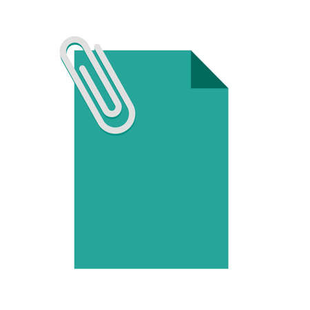 memo pad: Note, document, attached icon vector image. Can also be used for marketing. Suitable for web apps, mobile apps and print media.