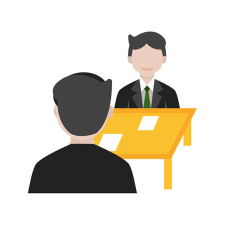 client meeting: Client, meeting, business icon vector image. Can also be used for marketing. Suitable for web apps, mobile apps and print media.