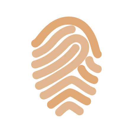 thumbprint: Fingerprint, print, unique icon vector image.Can also be used for security. Suitable for mobile apps, web apps and print media.