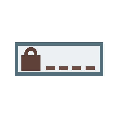 secret identities: Security, enter, password icon vector image.Can also be used for security. Suitable for mobile apps, web apps and print media.