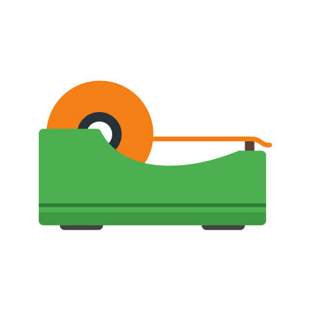 packaging equipment: Tape, sticky, roll icon vector image. Can also be used for stationery. Suitable for web apps, mobile apps and print media.