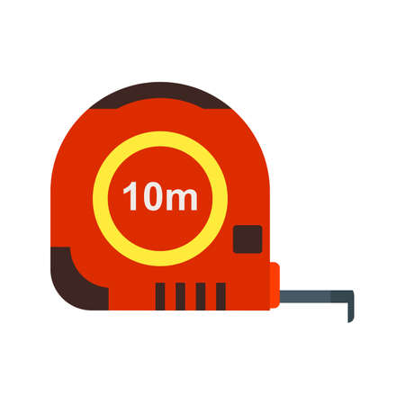centimeters: Tape, measure, meters icon vector image. Can also be used for stationery. Suitable for use on web apps, mobile apps and print media. Illustration