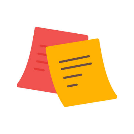 sticky note: Note, sticky, post icon vector image. Can also be used for stationery. Suitable for use on web apps, mobile apps and print media.