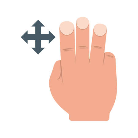 pointing device: Move, fingers, scroll icon vector image.Can also be used for user touch gestures. Suitable for mobile apps, web apps and print media.