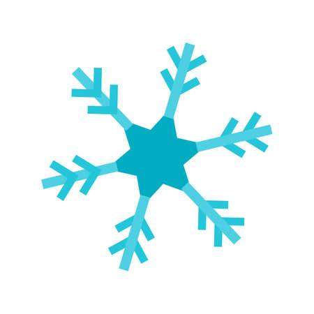 Copo de nieve, nieve, hielo icono vector de imagen. También se puede utilizar para el invierno. Adecuado para su uso en aplicaciones web, aplicaciones móviles y material de impresión.