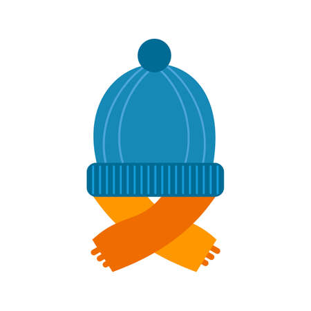 winter season: Warm, cap, head icon vector image. Can also be used for winter. Suitable for use on web apps, mobile apps and print media.