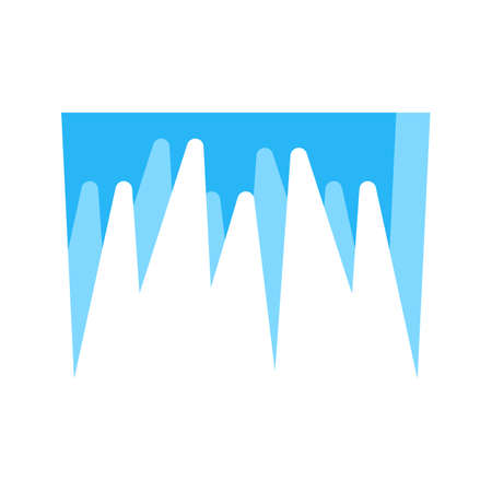 icicles: Icicles, snow, ice icon vector image. Can also be used for winter. Suitable for use on web apps, mobile apps and print media.