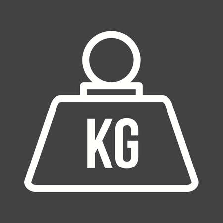 box weight: Weight, load, kilogram icon vector image. Can also be used for logistics. Suitable for mobile apps, web apps and print media.