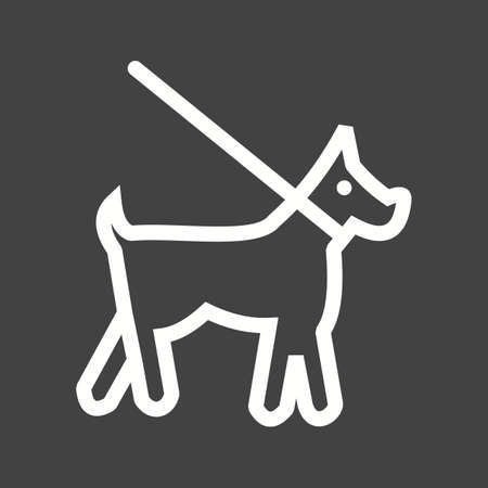 dog on leash: Dog, leash, training icon vector image. Can also be used for pet shop. Suitable for use on web apps, mobile apps and print media. Illustration