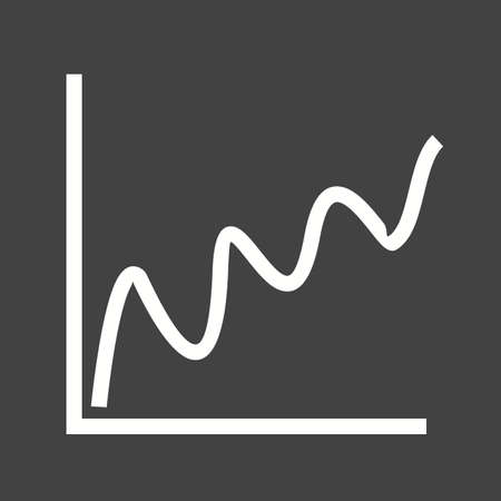 bell curve: Curve, chart, bell icon vector image. Can also be used for infographics. Suitable for use on web apps, mobile apps and print media. Illustration