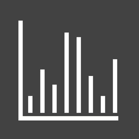 histograms: Chart, graph, column icon vector image. Can also be used for infographics. Suitable for use on web apps, mobile apps and print media.