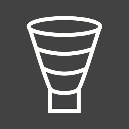 stage chart: Funnel, marketing, chart icon vector image. Can also be used for infographics. Suitable for web apps, mobile apps and print media.