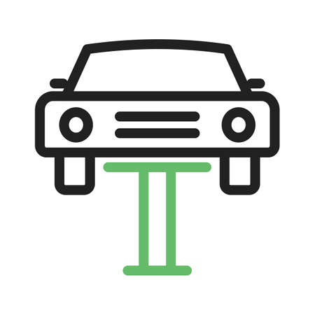 servicing: Car, mechanic, lift icon vector image. Can also be used for car servicing. Suitable for use on web apps, mobile apps and print media.