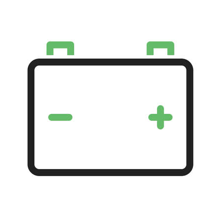 servicing: Battery, car, power icon vector image. Can also be used for car servicing . Suitable for use on web apps, mobile apps and print media.