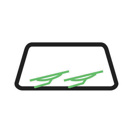wipers: Windshield, car, wipers icon vector image. Can also be used for car servicing. Suitable for use on web apps, mobile apps and print media. Illustration