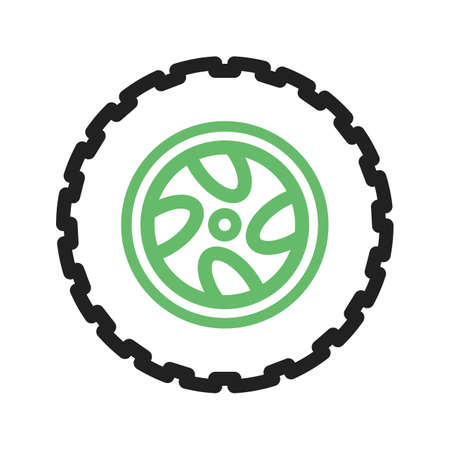 vector tyre: Tyre, car, black icon vector image. Can also be used for car servicing. Suitable for use on web apps, mobile apps and print media.
