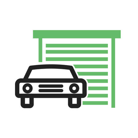 automatic doors: Garage, car, gate icon vector image. Can also be used for car servicing. Suitable for use on web apps, mobile apps and print media.