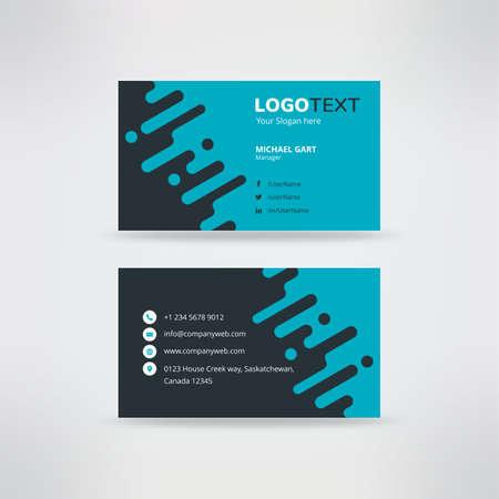 Blue and black splash business card