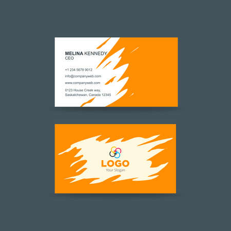 Creative business card with abstract paint