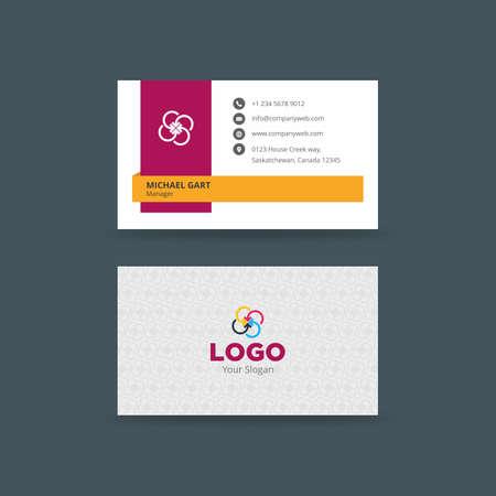 ミニマルな創造的なビジネス カード  イラスト・ベクター素材