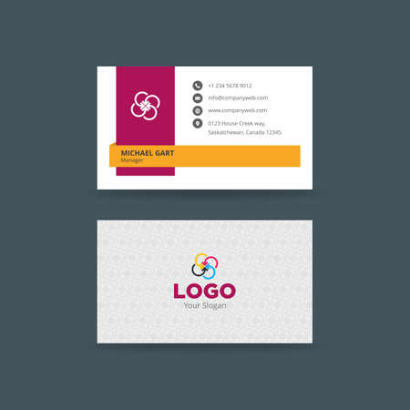 Minimalistic creative business card