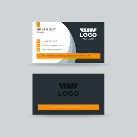 Neat grey and yellow professional business card