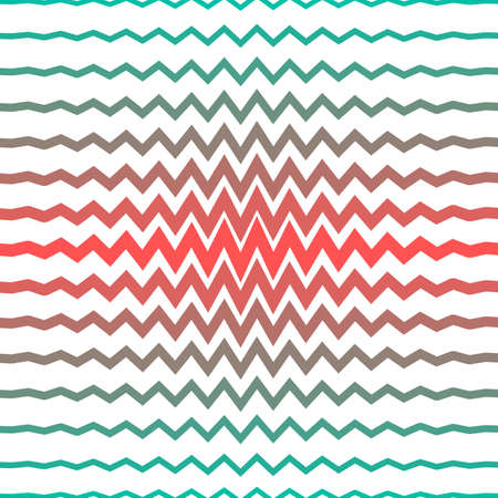 Rainbow colored sharp lines forming zigzag pattern.