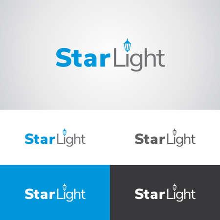 星光街路灯照明メーカーや企業ロゴデザイン