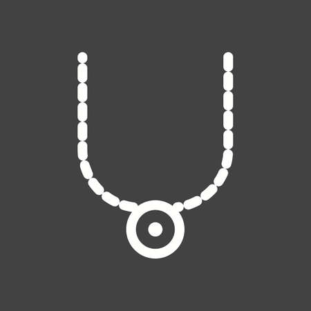 Women Necklace icon Illustration