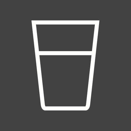 Water Glass icon. Иллюстрация