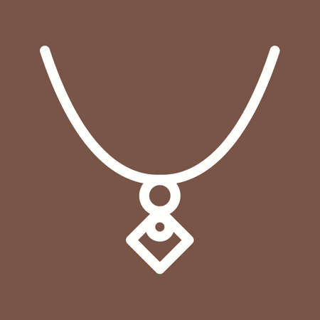 Jewelry, locket, gold icon vector image. Can also be used for clothes and fashion. Suitable for web apps, mobile apps and print media. Ilustrace
