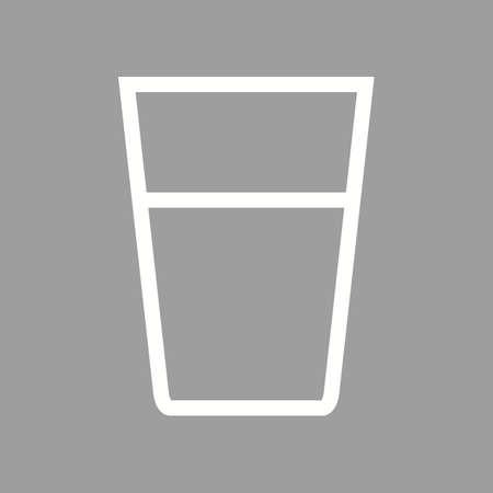 Water Glasses icon Фото со стока - 90665772