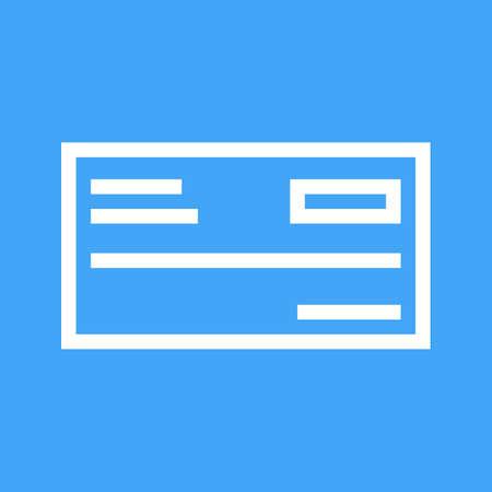 Cheque book icon vector illustration.