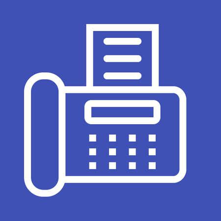 Fax Machine icon vector illustration. Ilustração