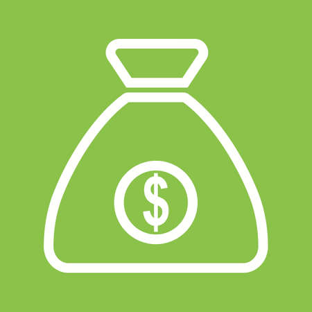 Money Bag icon vector illustration.