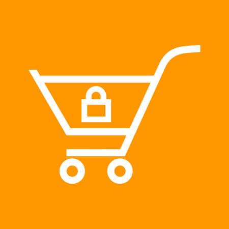 Locked Cart , trolley Çizim